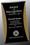 Black/Gold Standing Reflection Acrylic Award Recognition Plaque Acrylic Awards