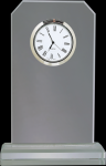 Clipped Corners Clear Glass Clock Gift Awards