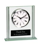Square Glass Desk Clock Gift Awards
