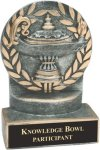 Lamp of Knowledge - Wreath Resin Trophy Wreath Awards